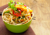 Asian salad of rice noodles with vegetables (funchoza) - 214105241