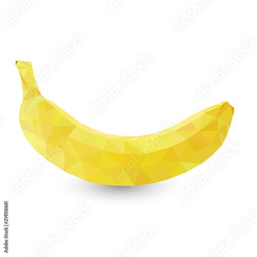 Polygonal fruit - banana. Vector illustration - 214106661