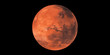 Mars red planet black background - 214131404