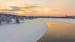 Quadro river in lapland