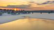 Quadro sunset in lapland