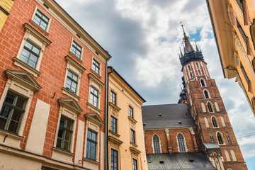 Stare Miasto, Saint Mary's Basilica, Old city of Krakow, Poland