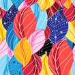 Autumn multicolored pattern