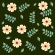 beautiful flowers and leafs decorative pattern vector illustration design - 214168202
