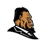 Well-Groomed Gorilla Mascot - 214175092