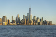 Panoramic view of Manhattan Skyline at twilight time in New York City