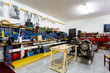 Garage with work tools for motor enthusiasts - 214184421