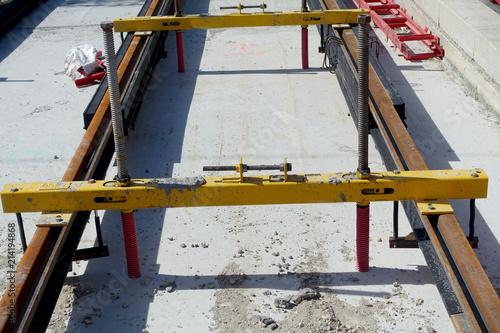 Foto Spatwand Spoorlijn construction d'une nouvelle ligne