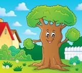 Cheerful tree theme image 2 - 214197033