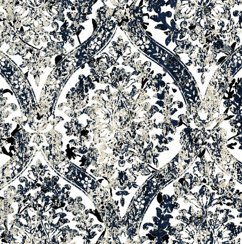Floral texture repeat modern pattern - 214213652
