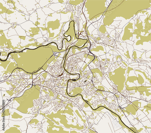 vector map of the city of Bern, Switzerland | Buy Photos | AP Images ...