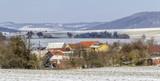 czech village at winter time
