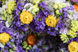 Close up image of dry flowers wreath - 214284806