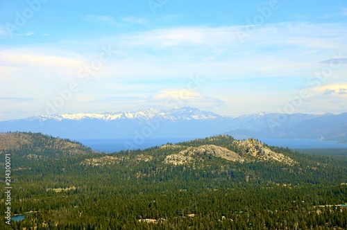 Plexiglas Pool Beautiful Landscape in Spring at Lake Tahoe in California, United States