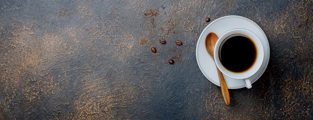 cup of black coffee © vimart