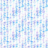 Seamless pattern with abstract geometric figures. Watercolor stripes like a trace of the wheel, blue and violet colors. - 214327654