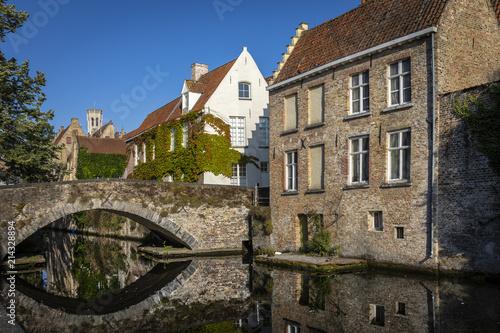 Foto Spatwand Brugge Haus an der Brücke