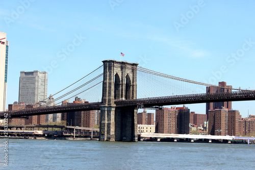 Foto Spatwand Brooklyn Bridge Blick auf die Brooklyn Bridge New York