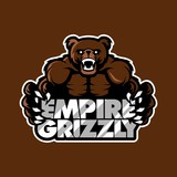 empire grizzly bear sport gaming apparel logo template vector illustration