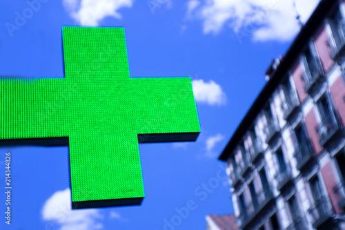 Canvas Apotheek Green cross pharmacy. No people