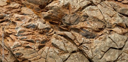 Aluminium Stenen Textured surface of rock