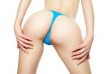 Young girl ass in blue panties