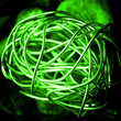 canvas print picture - green abstract background