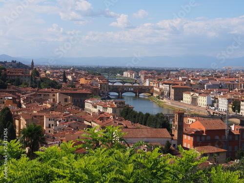 Canvas Toscane Ausblick Florenze