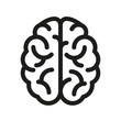 Human brain icon - vector