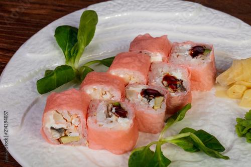 Foto Spatwand Panter Japanese mamenori roll