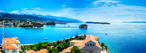 Town Rab on Croatian island from above - 214402468