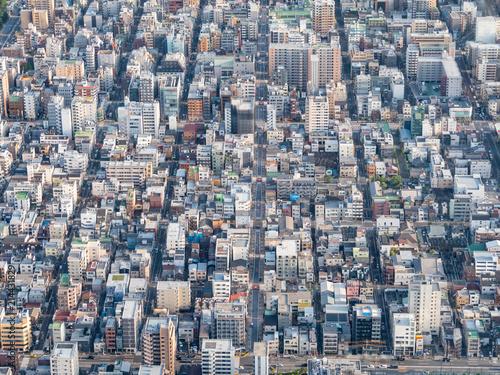 Fotobehang Tokio 東京 街並み