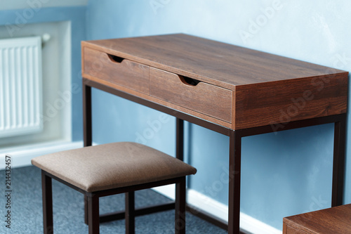 Wood bedside table. Modern designer - 214432457