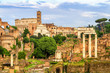 Quadro Aerial scenic view of Colosseum and Roman Forum in Rome, Italy. Rome architecture and landmark.