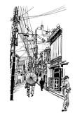 Street in Japan - 214439256