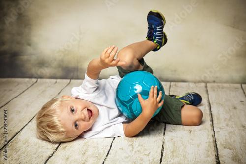 Fotobehang Voetbal Ballspiel
