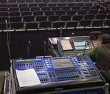 control panel for lighting equipment at the concert. - 214452684