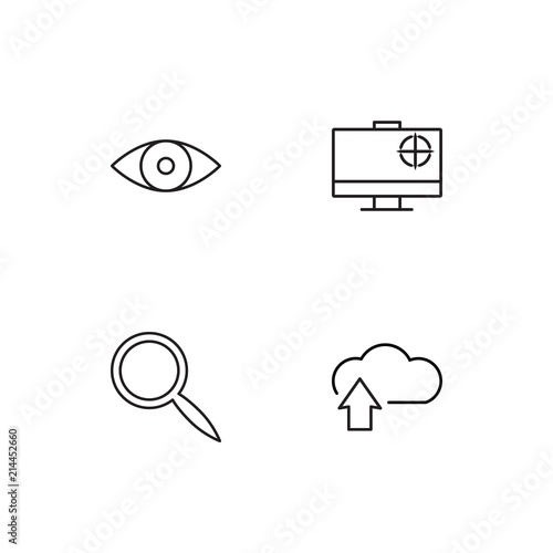 Cyber Security linear icons set. Simple outline vector icons - 214452660