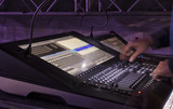 control panel for lighting equipment at the concert. - 214452849