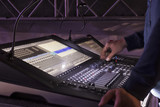 control panel for lighting equipment at the concert. - 214452867