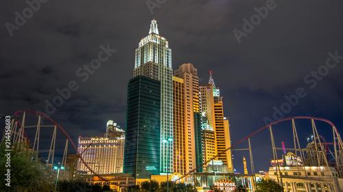 Fotobehang Las Vegas Las Vegas New York Hotel Komplex