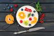gesunder Obstkuchen