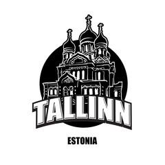 Tallin, Estonia, black and white logo