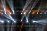 Light from the scene during the concert. light in the theater. - 214465663