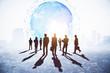 Leinwanddruck Bild - Global business and meeting concept