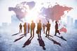 Leinwanddruck Bild - International business and discussion concept