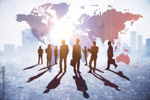 Leinwanddruck Bild International business and discussion concept