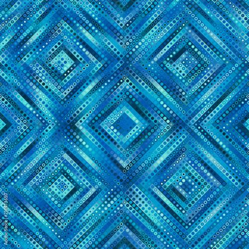 Geometryczny streszczenie symetryczny wzór w stylu sztuki low poly pixel. Bezszwowe tło low poly. Grafika wektorowa.