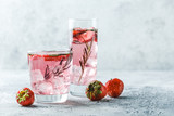 Strawberry and rosemary drink - 214477672
