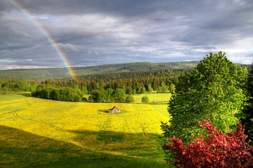 Regenbogen bei der Albrechthütte